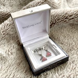 Hershey Kisses Sterling Silver Swarovski Earrings